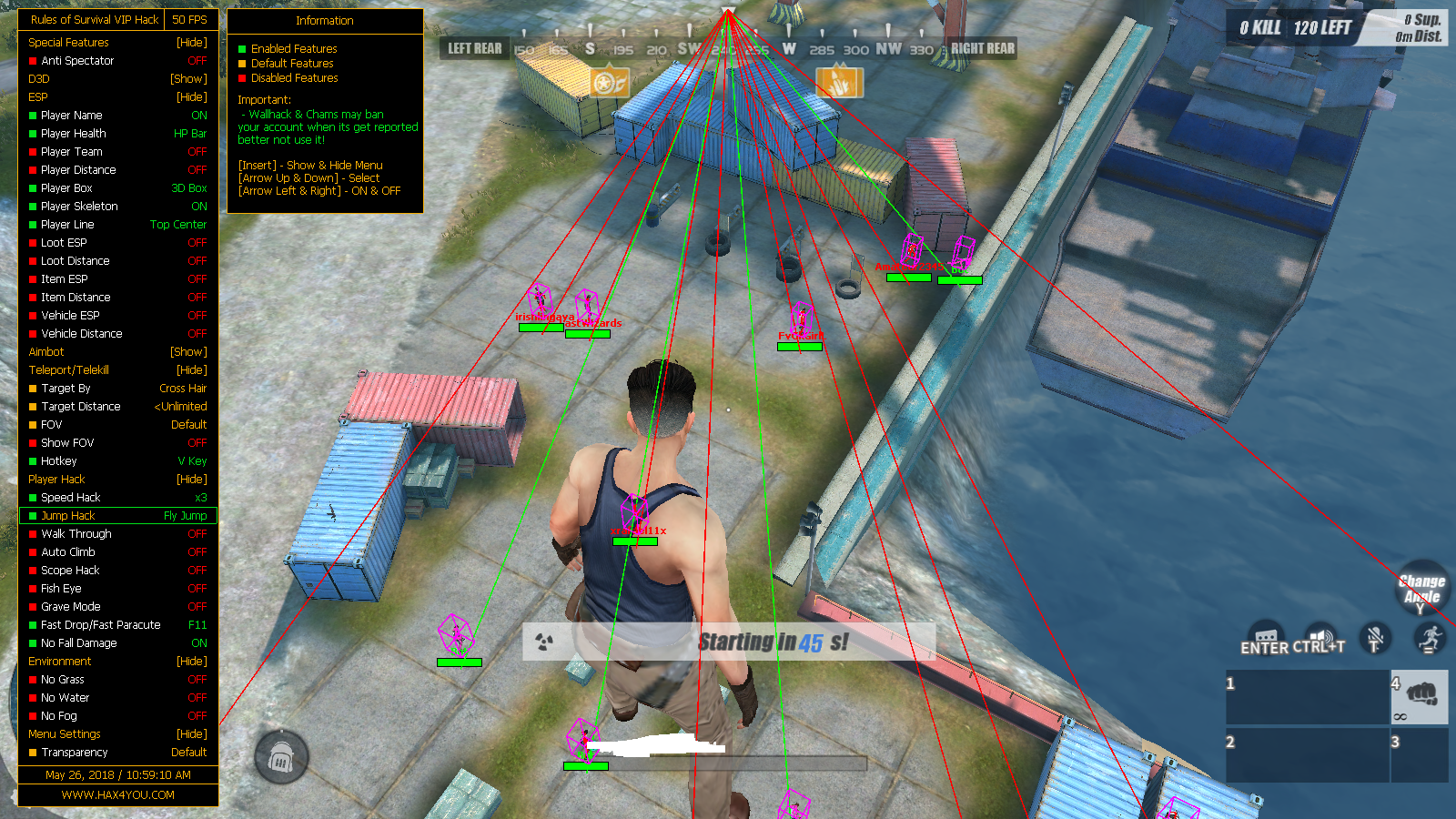 RULES OF SURVIVAL FREE VIP CHEAT/HACK (MAY 26, 2018) NEW FEATURES