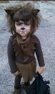 maquillaje infantil de hombre lobo
