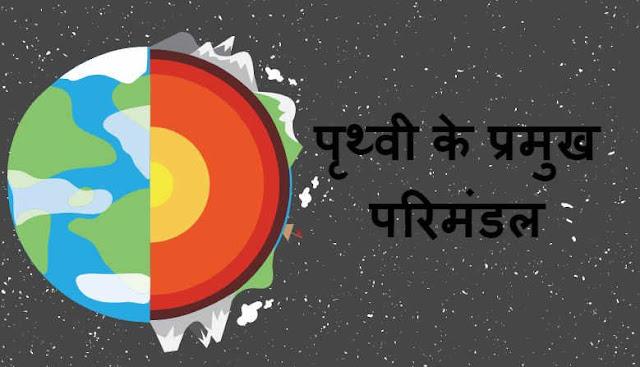 पृथ्वी के प्रमुख परिमंडल - Main circles of the earth