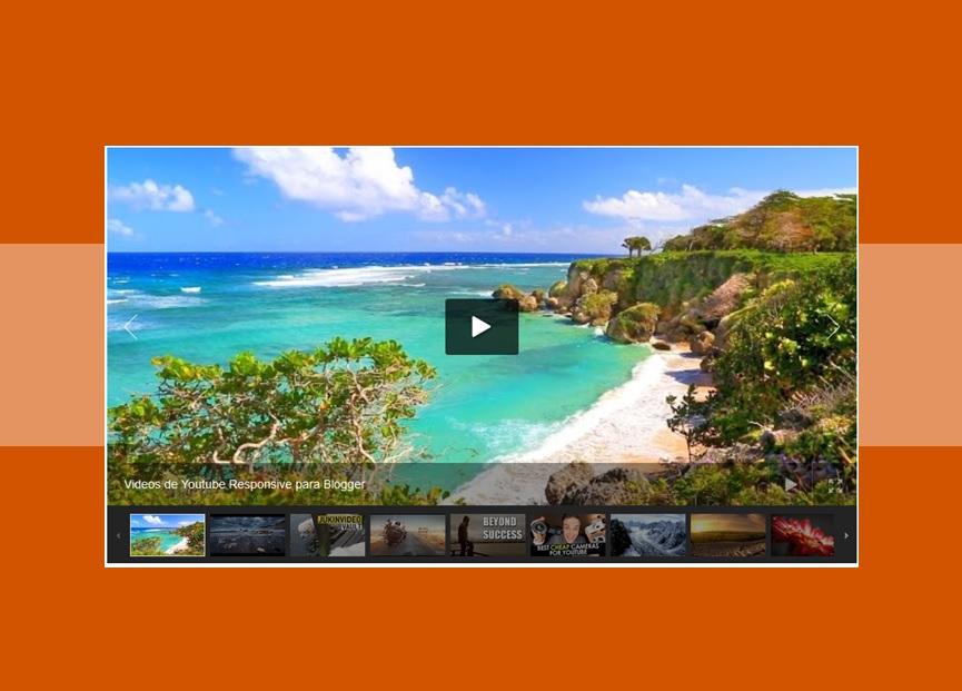 Slideshow de videos de Youtube en Blogger
