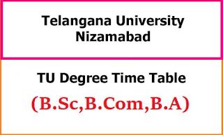Telangana University Degree Exam Time Table 2021