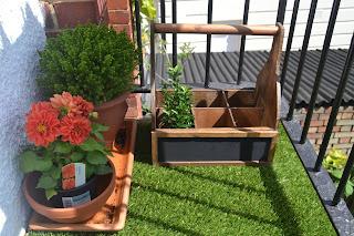 mini jardin en el balcon