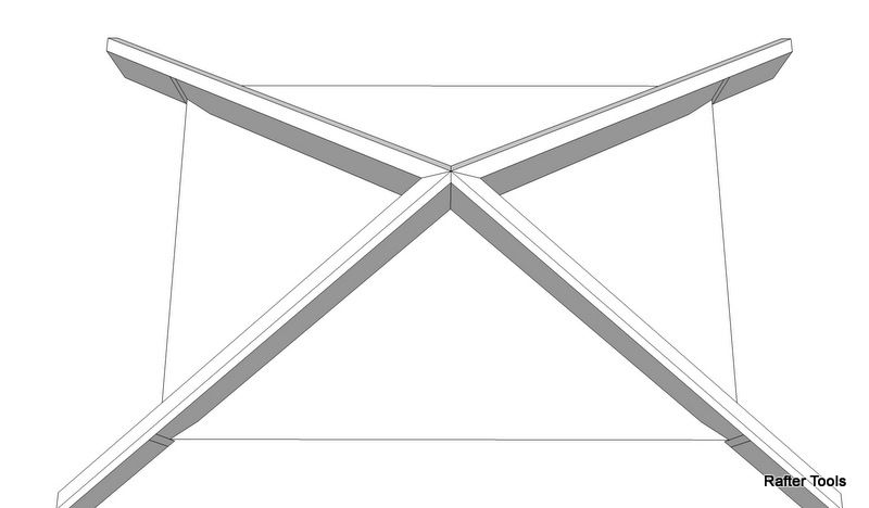 Roof Framing Geometry Pyramid Hip Roof Rafters Equal