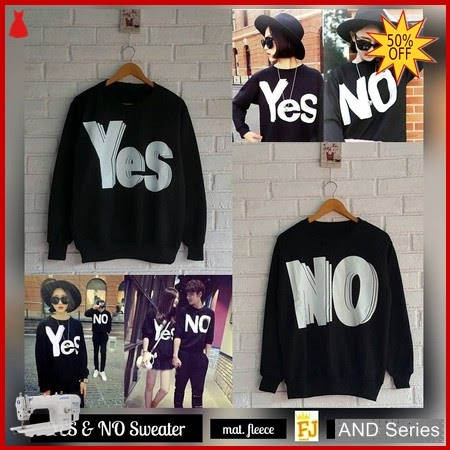 AND143 Sweater Wanita Yes And No BMGShop