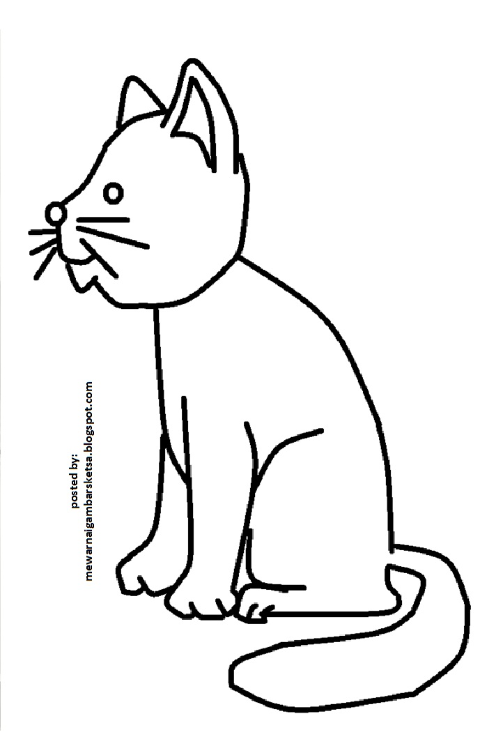 Mewarnai Gambar Mewarnai Gambar Kucing 1