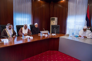 President Buhari and Grand Imam of al-Azhar, Ahmed El-Tayeb
