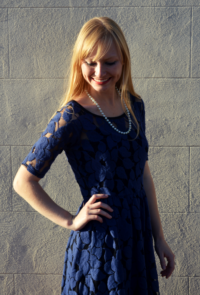 A Blue Lace Dress | Organized Mess
