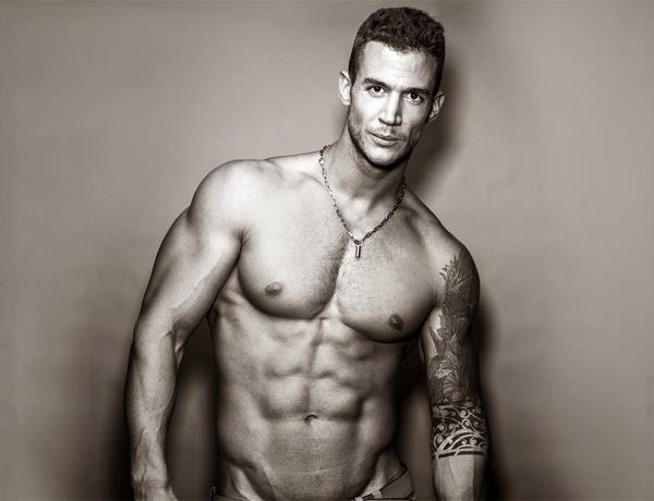 Male fitness model hairy
