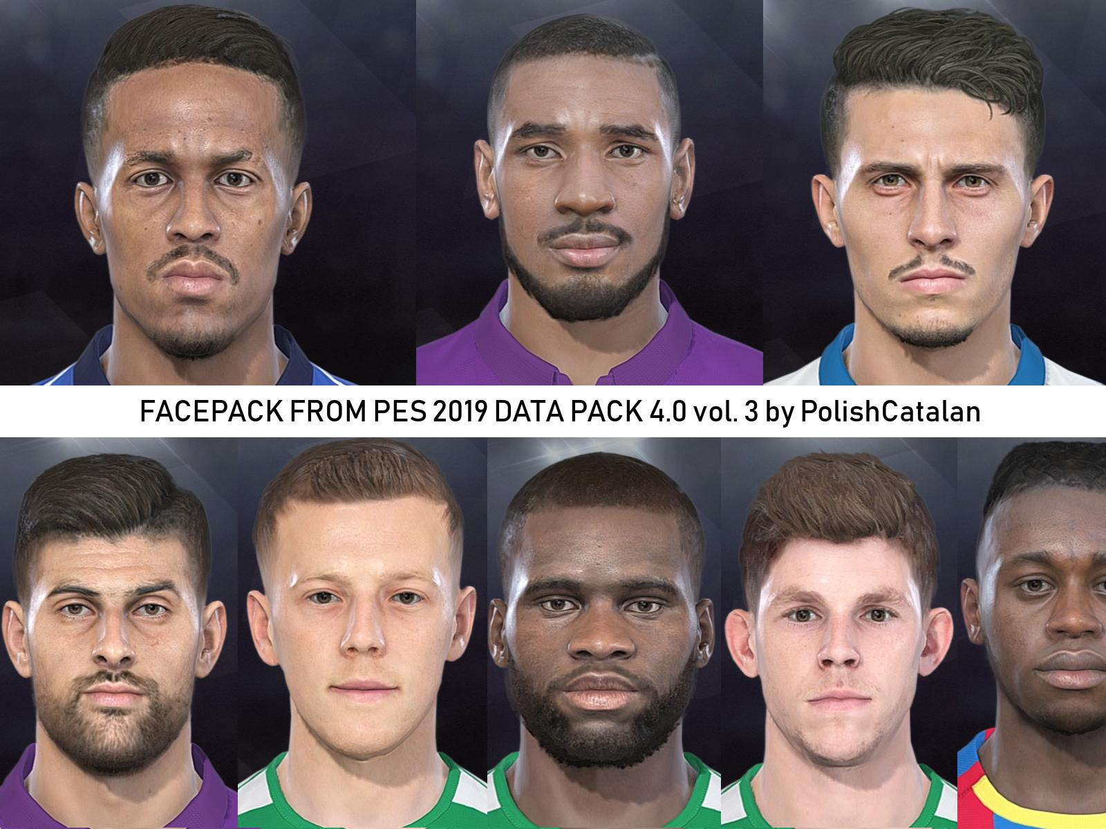 PES 2018 Facepack From PES 2019 Data Pack 4.0 vol. 3 by PolishCatalan