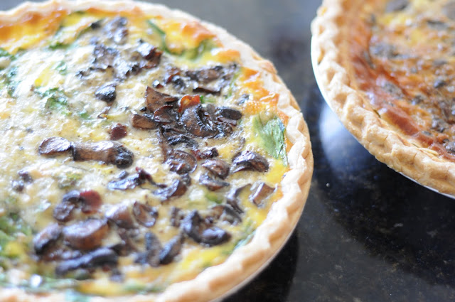 Photo of 2 baked quiches