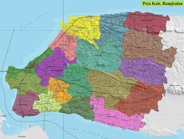 Peta Kabupaten Bangkalan