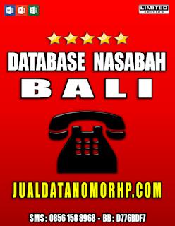 Jual Database Nasabah Prioritas Bali