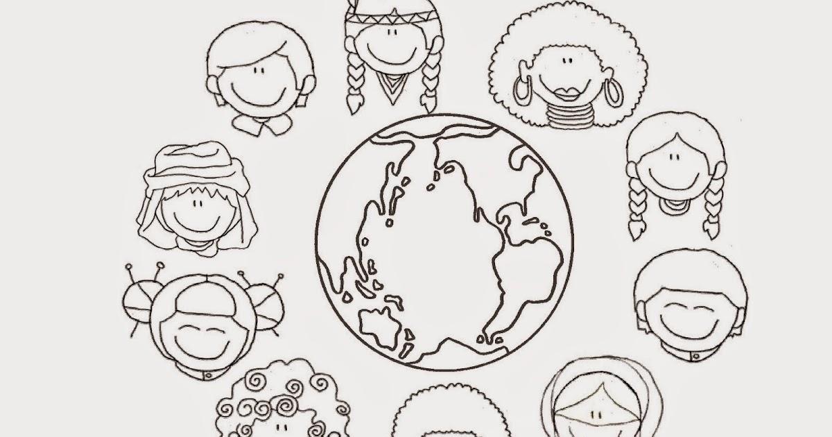 Imagenes De Niños De Distintas Razas: Recursos Para Mi Clase: NIÑOS DISTINTAS RAZAS (FICHA
