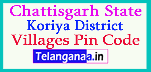 Koriya District Pin Codes in Chattisgarh State