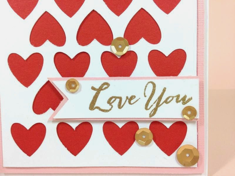Close To My Heart Artfully Sent Valentine card closeup