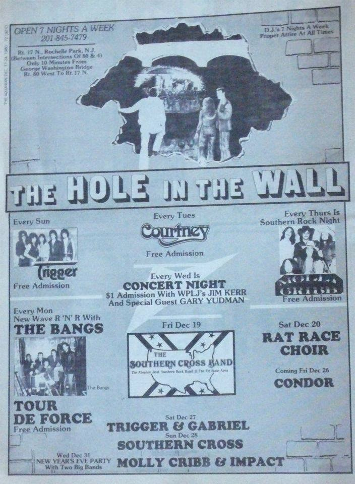 The Hole In The Wall band lineup flyer