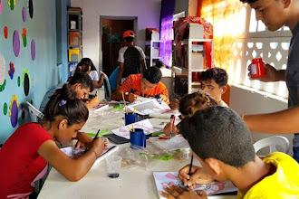 ONG Ceacri realiza Oficina de Pintura em Tela no distrito de Caio Prado, em Itapiúna