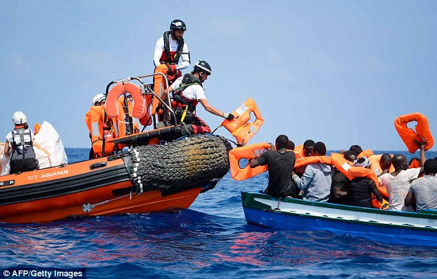 Britain refuses to take in any migrants stranded on a rescue ship in the Mediterranean.
