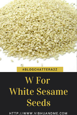 W For White Sesame Seeds - Vibhu & Me