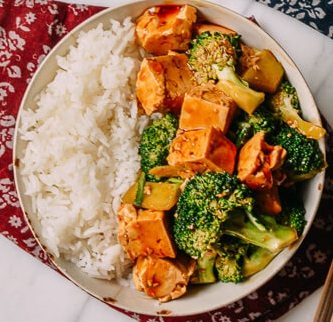 TOFU VEGGIES STIR-FRY WITH RICE