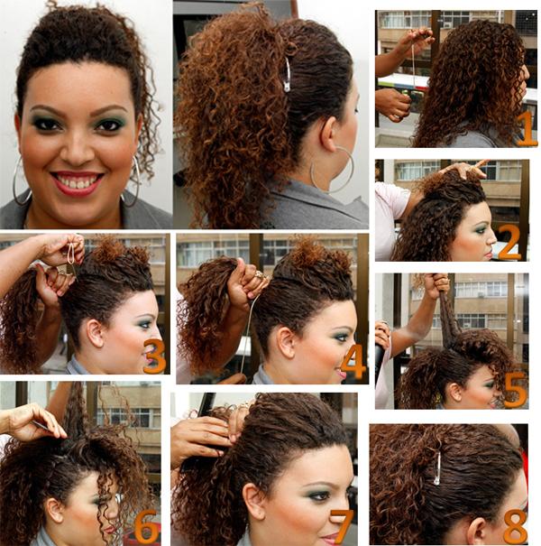 Resultado de imagem para penteados para ir a escola cabelos cacheados