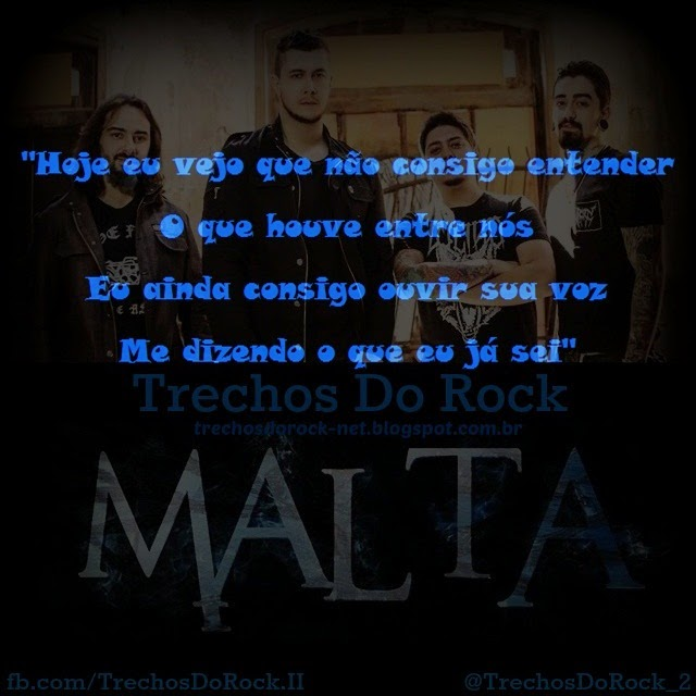 Trechos Do Rock Frases Da Banda Malta 01