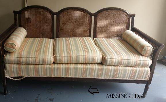 encore creations Cane Back Furniture Antique Cane Back Sofa