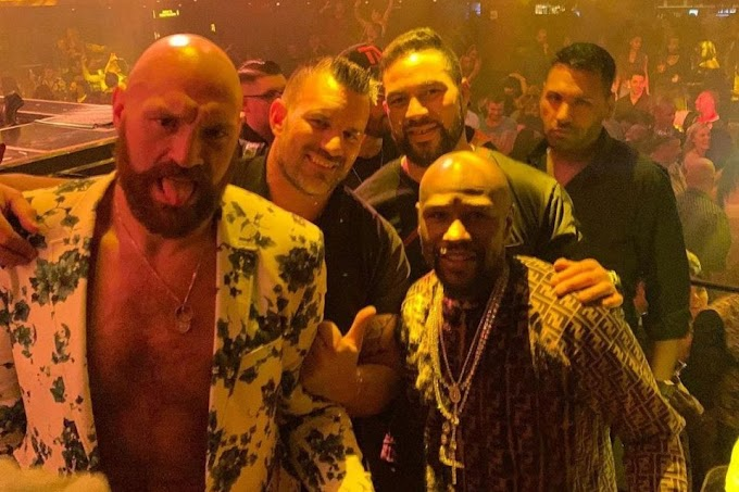 Tyson Fury Flaunts new private jet  After partying with Floyd Mayweather (photo)