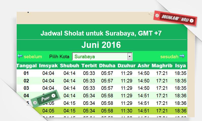 Inilah Jadwal Imsakiyah 2016 Seluruh Indonesia (Sahur, Imsyak dan Berbuka Puasa)