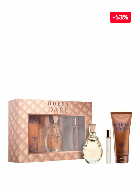 Set cadou Guess Dare femei Apa de toaleta 100 ml + Apa de toaleta 15 ml + Lotiune de corp 200 ml