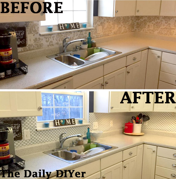 contact paper for kitchen backsplash the daily diyer updated contact paper kitchen backsplash 8301
