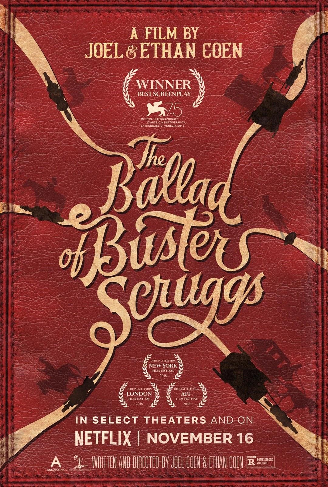 the ballad of buster scruggs,西部傳奇,西部老巴的故事,細說當年話西部,巴斯特斯克魯格斯的歌謠,海報,poster