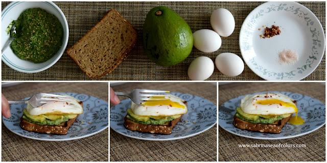 Tostadas de aguacate y huevo