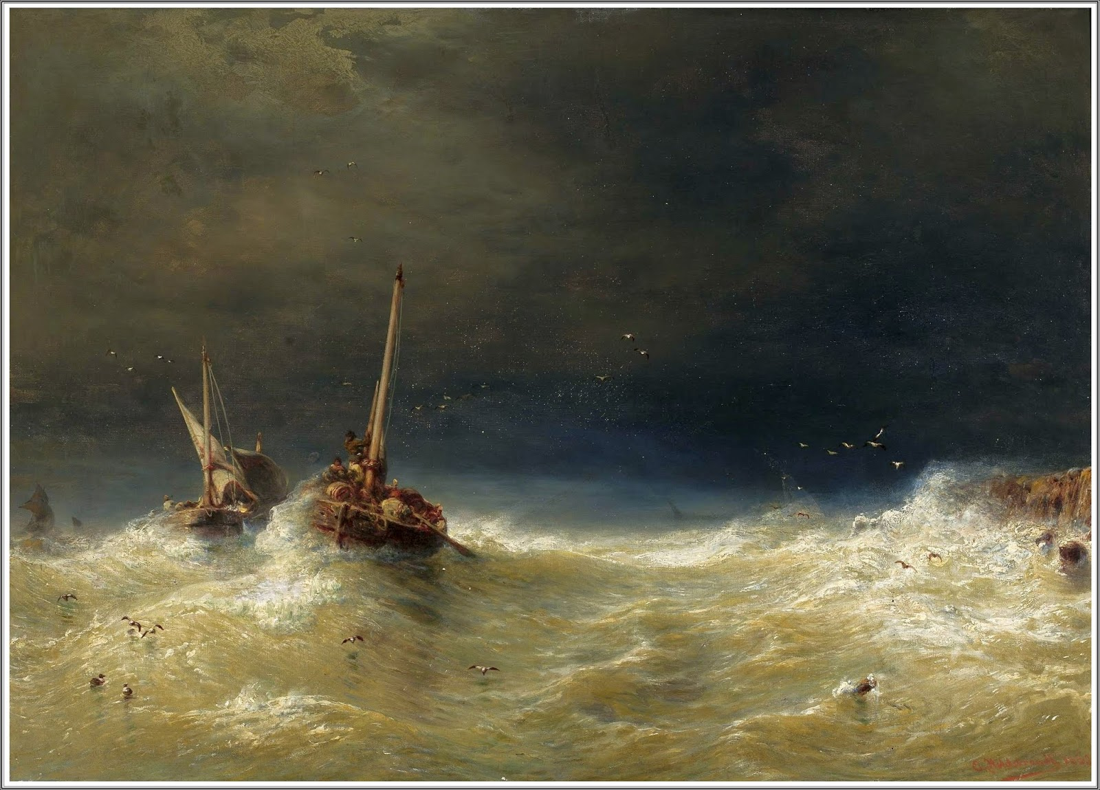 Mary Chaplin Artiste Peintre le prince lointain: eduard hildebrandt (1818-1869), tempête