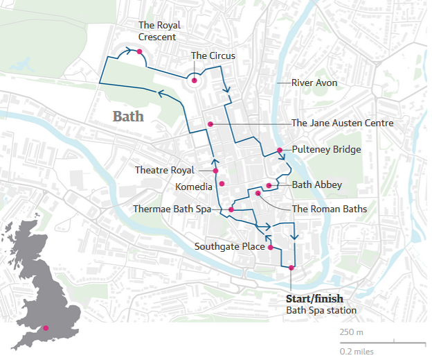 A walking tour of Bath the ultimate spa break