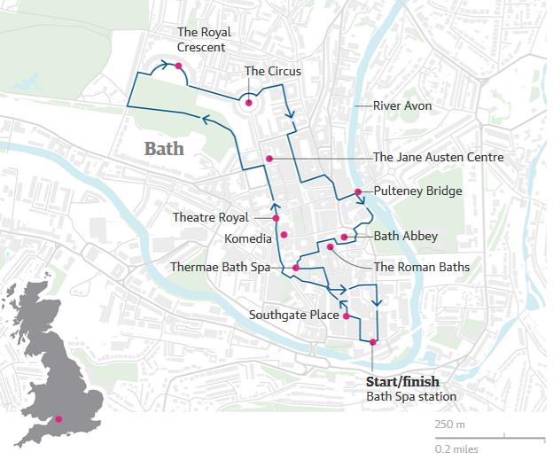 A walking tour of Bath the ultimate spa break