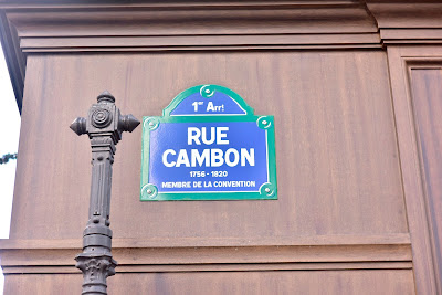 Rue Canbom onde se localiza a Maison Chanel