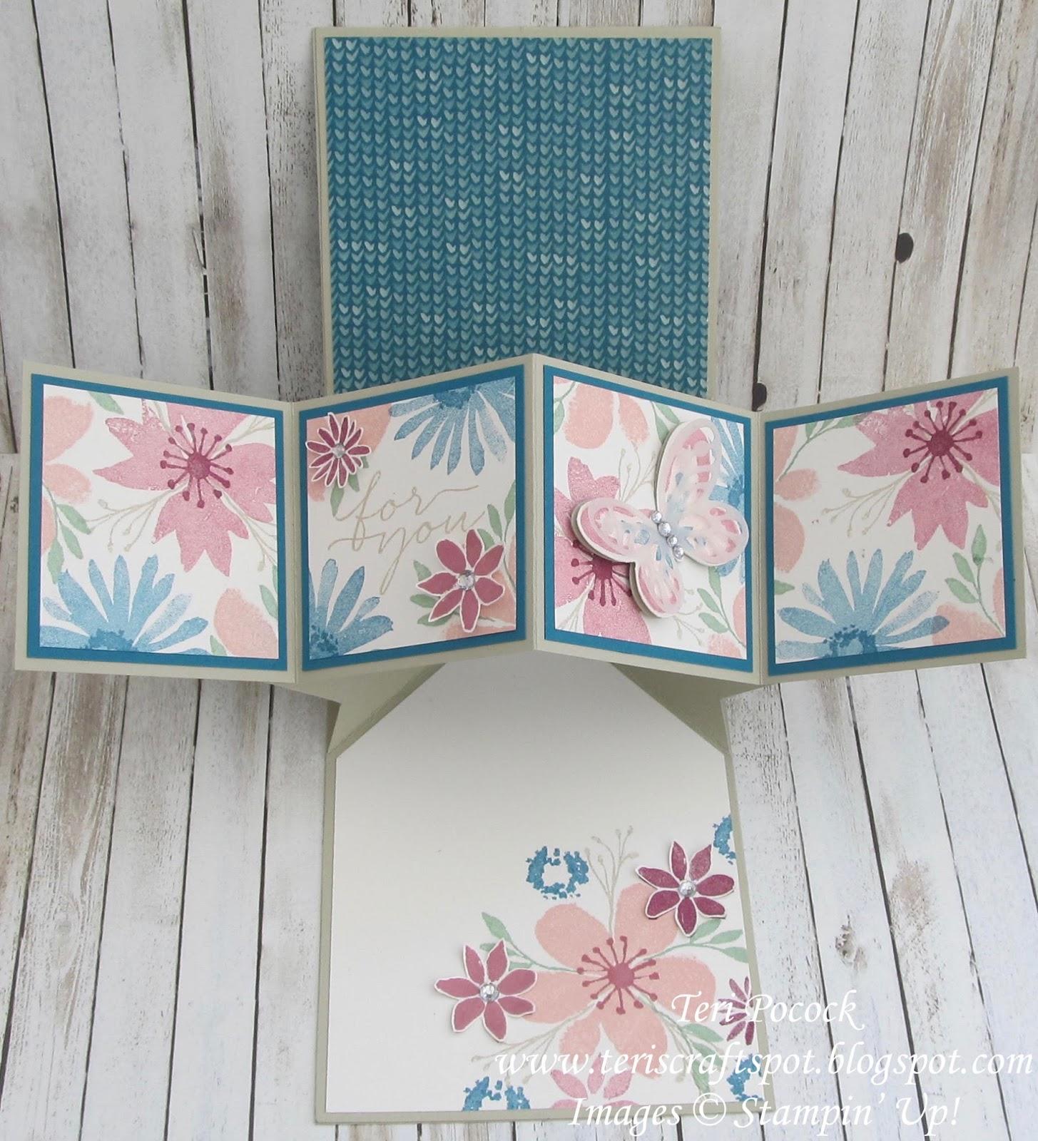 stampin 39 up uk demonstrator teri pocock blooms wishes pop up panel card. Black Bedroom Furniture Sets. Home Design Ideas