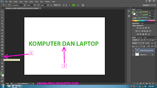 membuat tulisan di photoshop