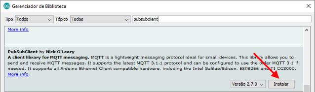 Enviando mensagens MQTT com módulo ESP32 - Arduino e Cia
