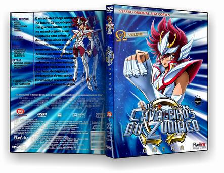 CAPA DVD – Cavaleiros Do Zodiaco Omega Disco 1 – DVD-R