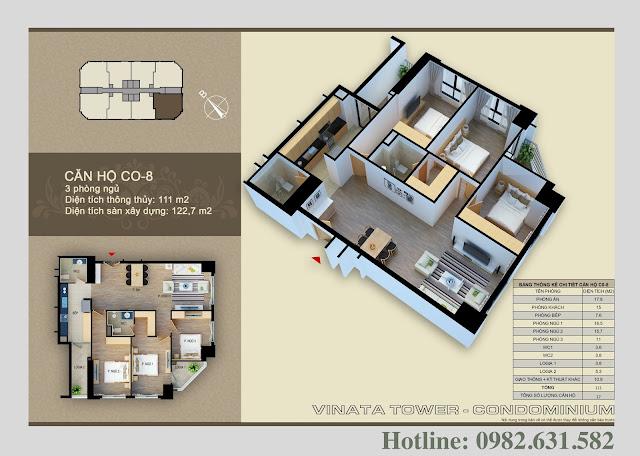 Thiết kế căn hộ Vinata Tower CO-08