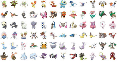 Generation 6 Pokemon List