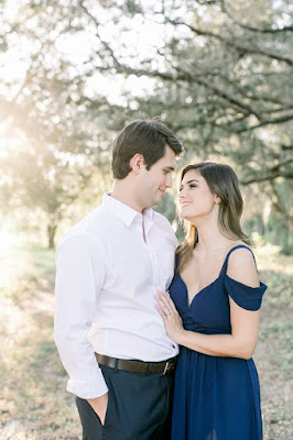 couple engagement session outdoors