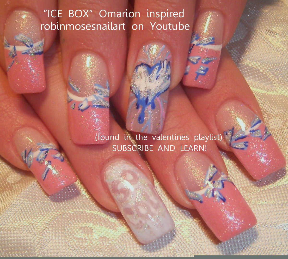 Nail Art by Robin Moses: omarion nail, ice box nail, omarion ice box ...