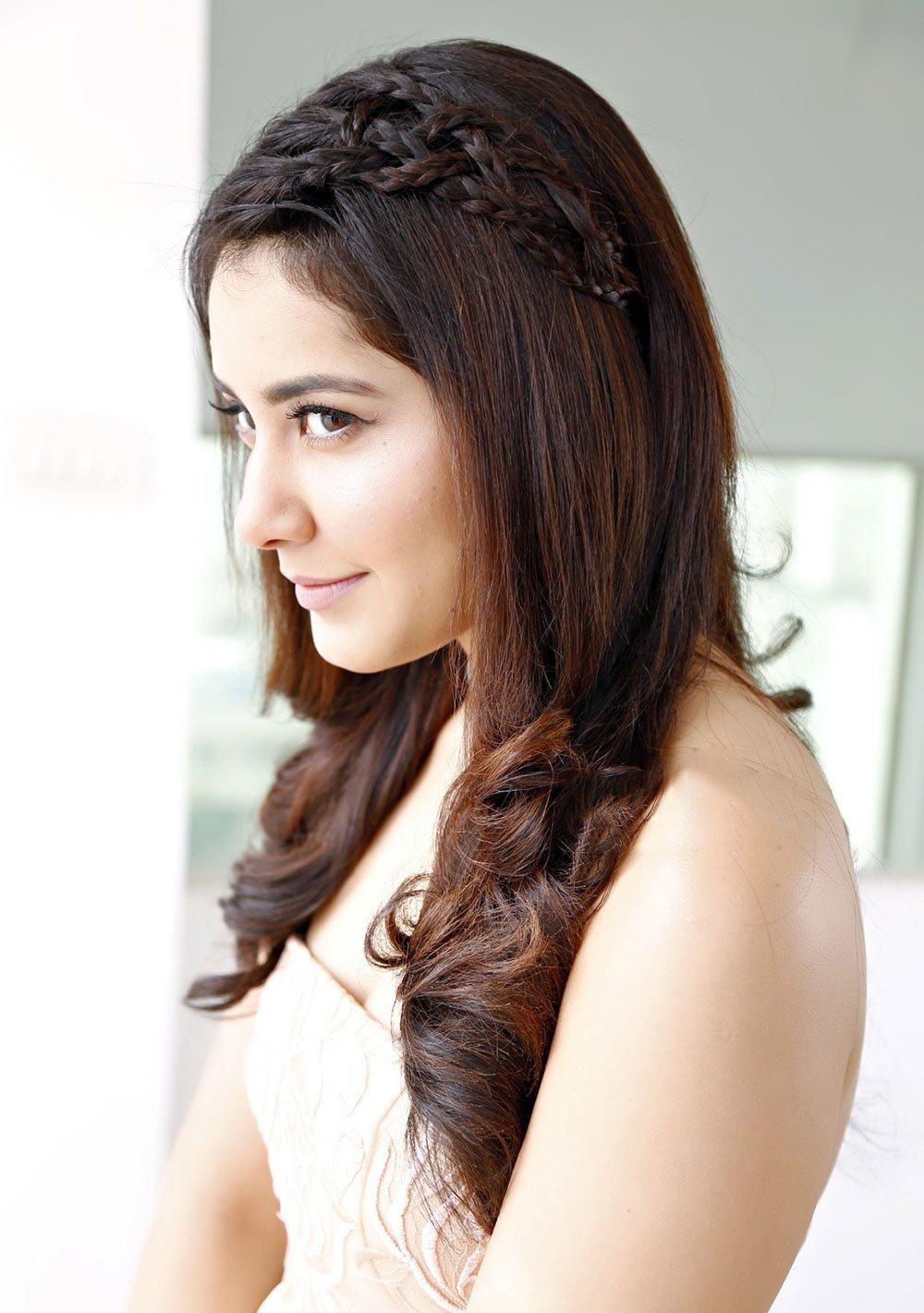 Rashi Khanna Long Hair Style Closeup Face Stills Tollywood Stars