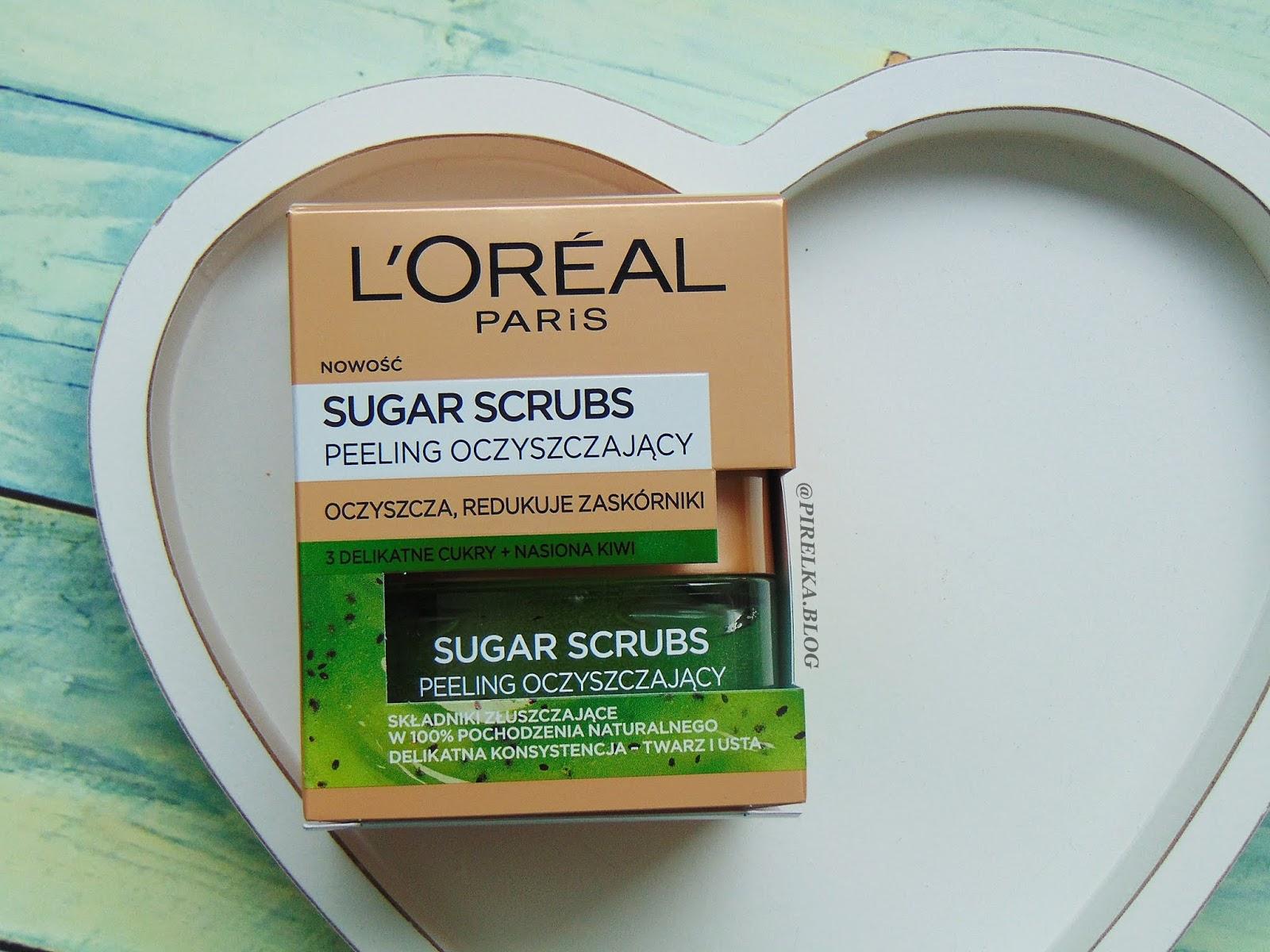 Peeling do twarzy oczyszczający, Loreal Sugar Scrubs