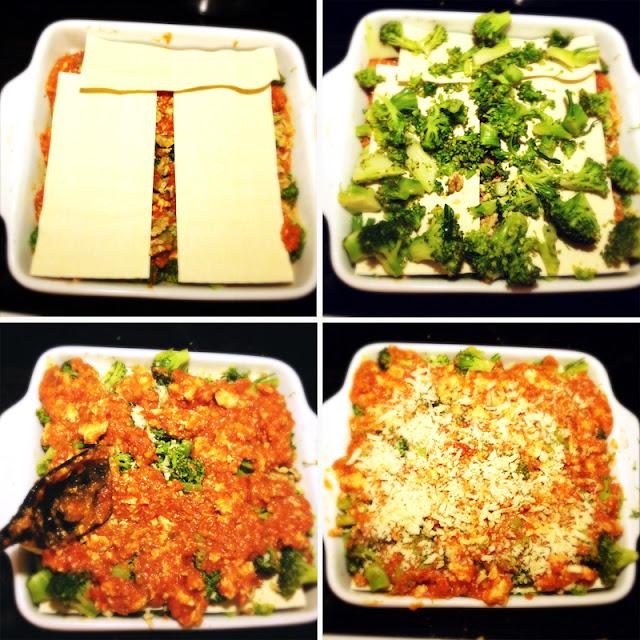 Oppskrift Hjemmelaget Lasagne Vegetarlasagne Vegan Tofu Linser Vegetabilsk Protein Brokkoli Sunn