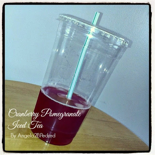 Around2Food: Cranberry Pomegranate Iced Tea (Next to Zero Calories)