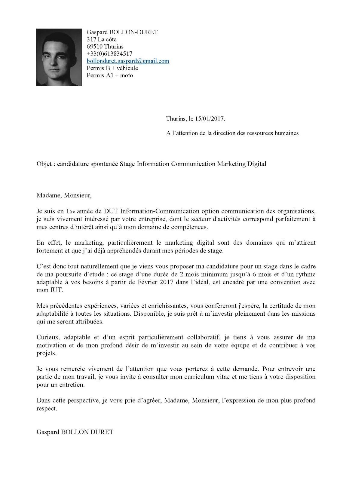lettre de motivation ci k joint mon cv